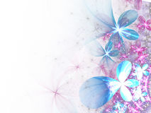 Light colorful fractal flowers Royalty Free Stock Photos