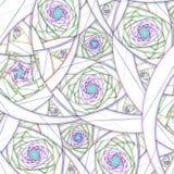 Light colorful fractal spirals, digital artwork Stock Photo