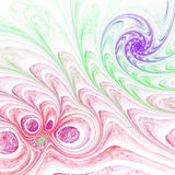 Light colorful fractal spirals Royalty Free Stock Photos
