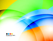 Light colorful modern wave banner. Vector background Royalty Free Stock Photos