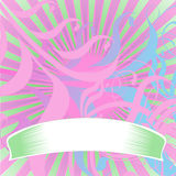 Light Colors Scrolls Banner. Vector Illustration. No Meshes Stock Images
