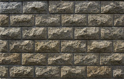 Light coloured stone brick wall cladding Royalty Free Stock Photos