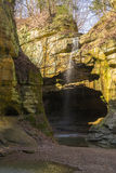 Light coming into the canyon. Royalty Free Stock Photography