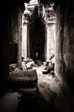 Light coming through the roof of the Angkor Temple Royalty Free Stock Photo