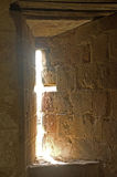 Light coming through a slit window. Royalty Free Stock Images