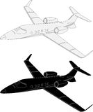 Light commercial airplane stock illustration