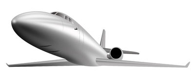 Light commercial jet plane Royalty Free Stock Image