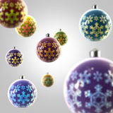 Light composition of Christmas balls. With the snowflake ornament vector illustration
