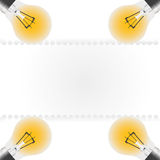 Light concept. The light concept and paper sheet Royalty Free Stock Photo