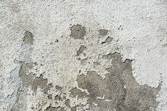 Light concrete wall with old  crack grunge putty , texture Stock Image