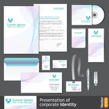 Light corporate identity template for medical company. Stock Photos