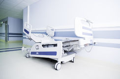 Light corridor of a modern hospital Royalty Free Stock Photo