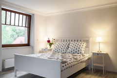 Light and cozy bedroom Royalty Free Stock Photography