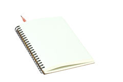 Light cream color paper note and pencil Stock Photography