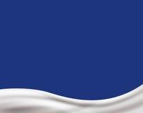 Light cream wave on light blue background Stock Photos