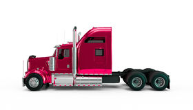 Light crimson american truck Stock Image