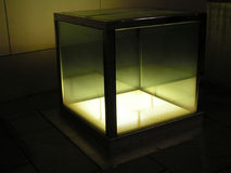 Light cube 1. Urban illuminating from underground Royalty Free Stock Images