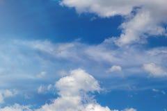 Light cumulus clouds in the blue sky.  stock photos