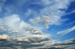 Light cumulus clouds in the sky before the rain Stock Photography