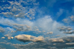 Light cumulus clouds in the sky before the rain Royalty Free Stock Photo