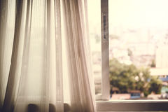 Light curtain and Window Royalty Free Stock Photo