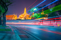 Light curved lines at The Wat Phra Kaew. Light curved lines at The  beautiful Temple of thailand Stock Photography