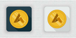 Light and dark Ardor crypto currency icon Royalty Free Stock Images