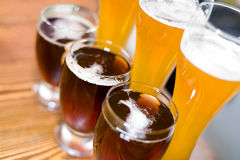 Light and dark beer Royalty Free Stock Photo