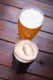 Light and dark beer Stock Images