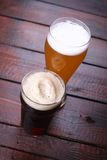 Light and dark beer Royalty Free Stock Photography