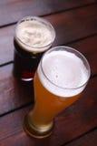 Light and dark beer Stock Photo