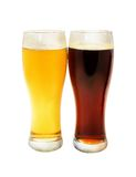 Light and dark beer Stock Image