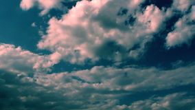 Light And Dark Blue Clouds Hd stock video