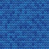 Light and dark blue knit seamless pattern. EPS 10 vector Stock Photos