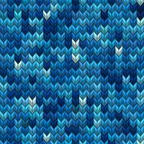 Light and dark blue knit seamless pattern. EPS 10 vector Royalty Free Stock Photography