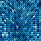 Light and dark blue knit seamless pattern. EPS 10 vector Royalty Free Stock Photo
