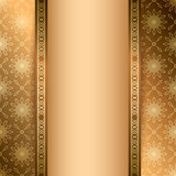 Light and dark brown vector background with ornament Royalty Free Stock Photography