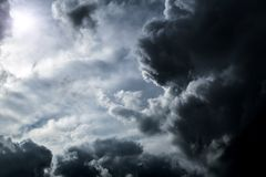Cloudscape with a Light Stock Image