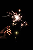 Light in the dark. Fire work in Thailand festival that is called LOY-KRA-TONG royalty free stock photo