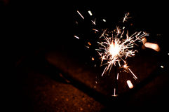 Light in the dark. Fire work in Thailand festival that is called LOY-KRA-TONG stock photos