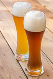 Light and dark German wheat beer Stock Photo
