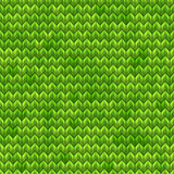 Light and dark green knit seamless pattern. EPS 10 vector Stock Image