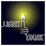 Light and Dark Icon Stock Image