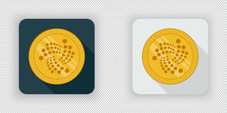 Light and dark IOTA crypto currency icon Royalty Free Stock Image