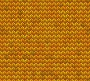 Light and dark orange knit seamless pattern. EPS 10 vector Stock Photography