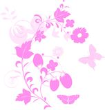 Light and dark pink decorarion Royalty Free Stock Photo
