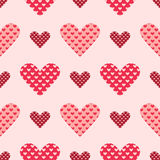 Light and dark pink seamless heart vector pattern Royalty Free Stock Photo