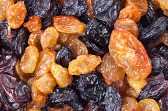 Light and dark raisins Royalty Free Stock Image