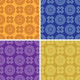 Light and dark seamless patterns - vector set Stock Photography