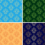 Light and dark seamless vintage patterns - eps Royalty Free Stock Photos